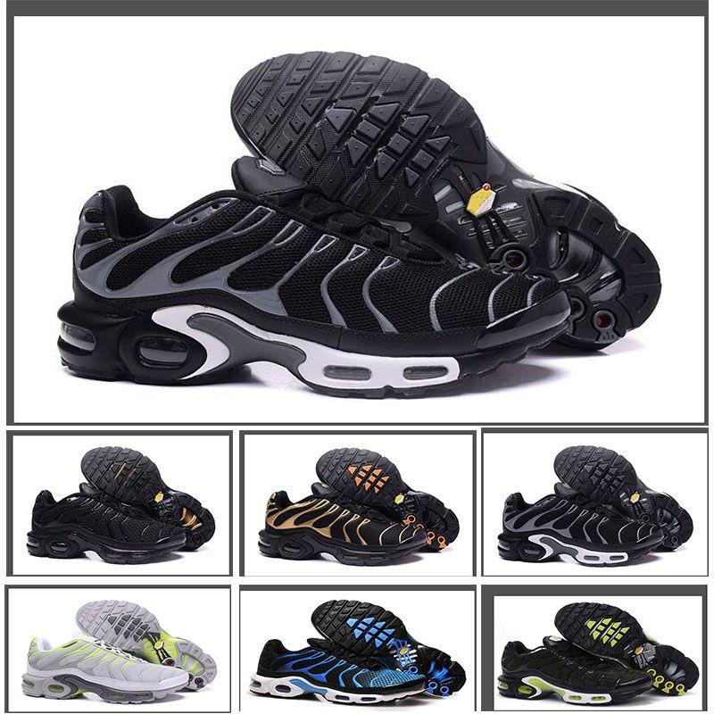 finest selection c9a07 123f2 Acheter Nike Air Max TN Plus En Gros 2018 Remise Haute Qualité Occasionnels  Chaussures En Plein Air Nouveau Hommes Noir Blanc Rouge Hommes Respirant  Runners ...