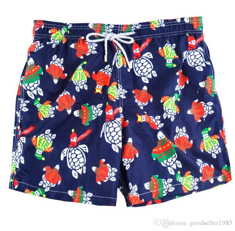 b5ab682658 2019 Blue Tortoise Men'S Swimwear Men'S Swimwear Shorts Beach Surfing Pants  Quick Dry Printed Board Shorts Summer Tropical Volley Bathing Suits From ...