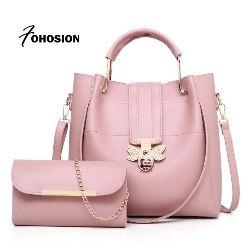 Brands Handbag Women Bags Designer Bee Clutch Purses High Quality PU ... 908377d23544c