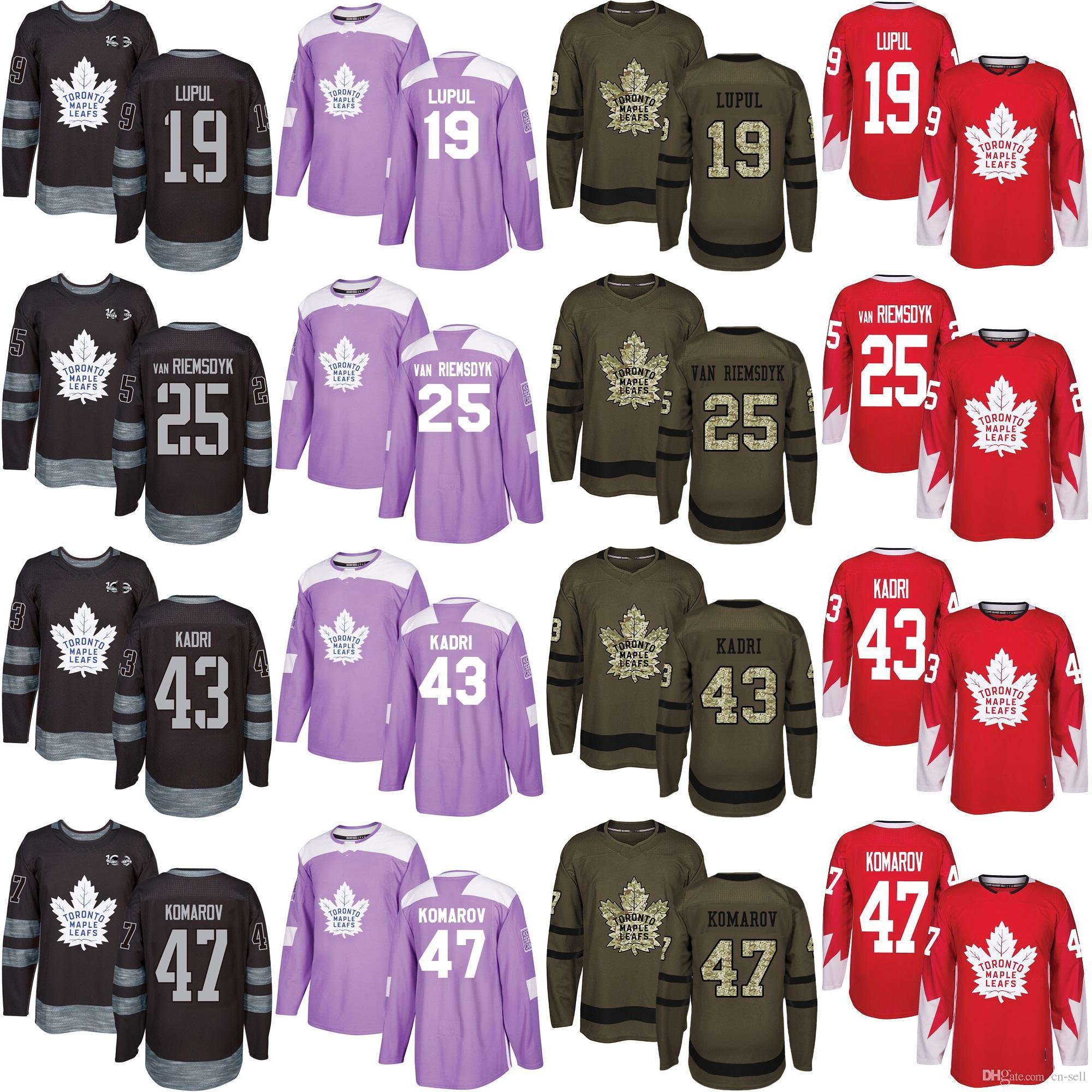 Toronto Maple Leafs Joffrey Lupul 25 James Van Riemsdyk 43 Nazem ... 7ca162609