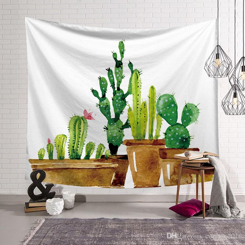 Cactus Wall Cloth Tapestries Mexican Blanket Fabric Wall Decoration ... bd5470ae39
