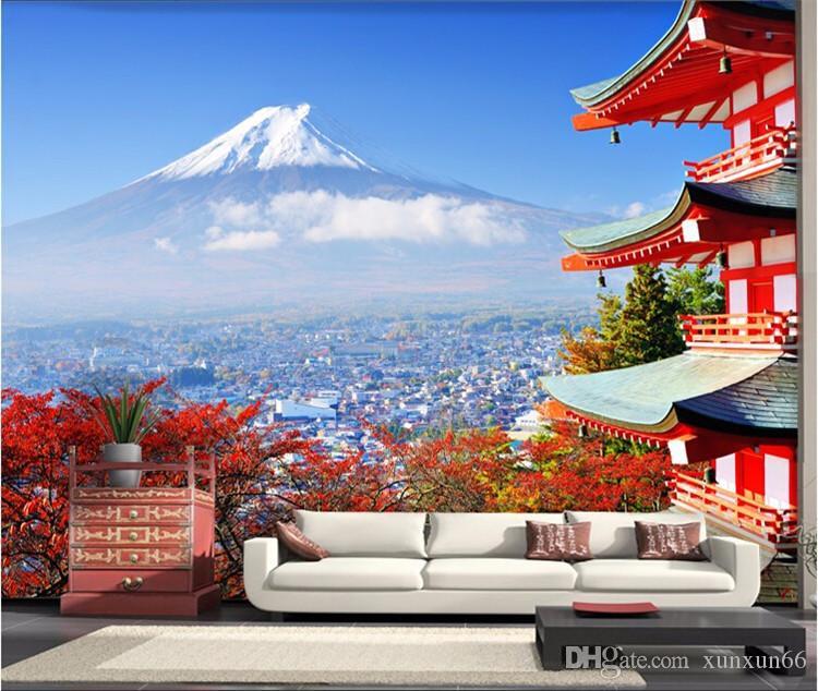 Satın Al Fotoğraf Kağıdı Fuji Japon Bayrağı Manzara Modern Oturma