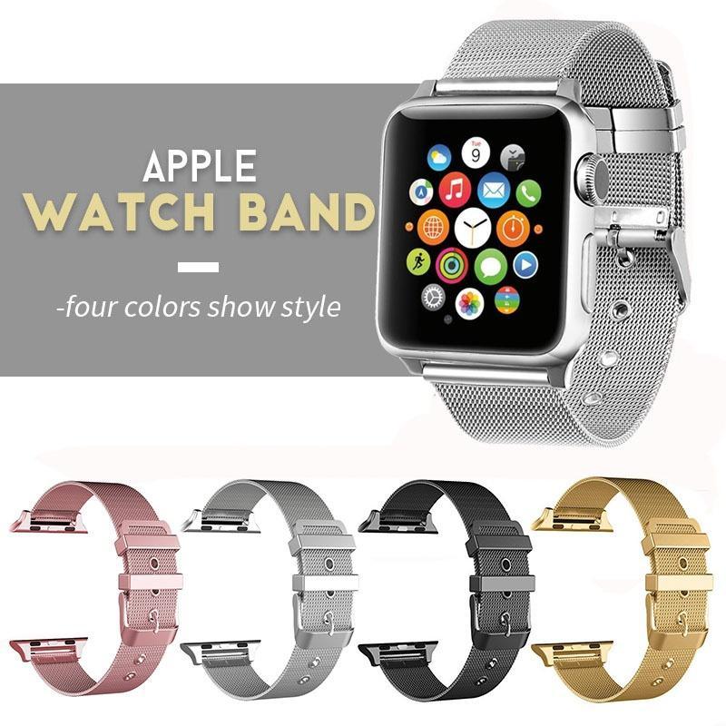95e4bafc5c5 Compre 4 Cores Pulseira De Aço Inoxidável Para A Apple Watch 42mm 38mm  Pulseira De Metal Inteligente Pulseira Para Iwatch Série 1 2 3 De  Gossipgirl888