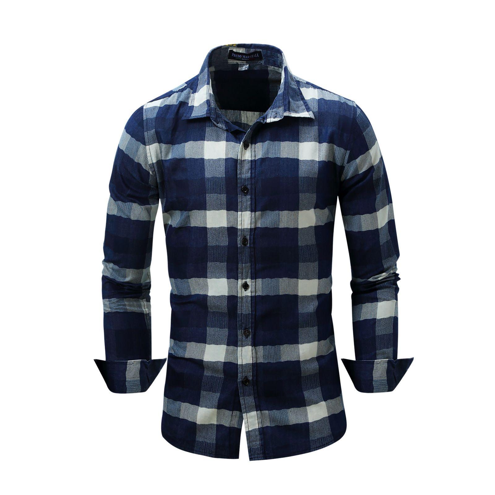 cea976713f5f1 Compre Camisa Vaquera De Manga Larga Para Hombres Nuevos A  5.08 Del  Minglian1233