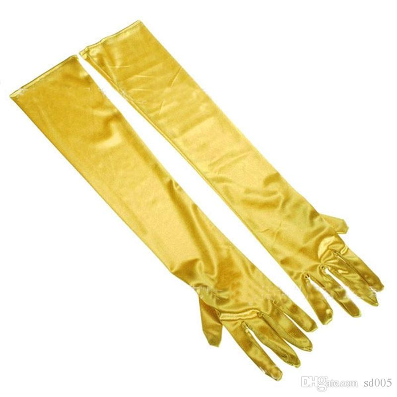 Mitil Color Women Show Long Gloves Bride Bridal Wedding Decor Glove Glossy Face Lengthen Sunscreen Mittens 7 5zg Y