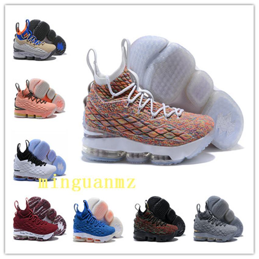 nice shoes ece1c 7263d Stockx LeBron 15 Fruchtig Pebbles Basketball Schuhe LeBron Schuhe Griffey  Outdoor Schuhe James 15 Lbj 15 Männer Größe Us7-us12