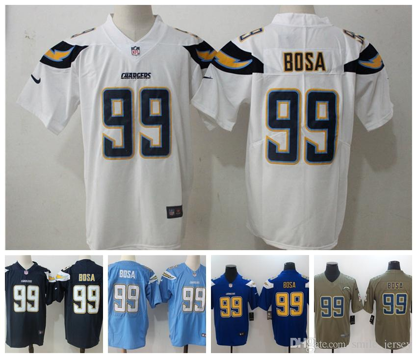 e7f7fa1d662 2019 2019 New Mens 99 Joey Bosa Los Angeles Jersey Chargers Football Jersey  100% Stitched Embroidery Chargers Joey Bosa Color Rush Football Shirt From  ...
