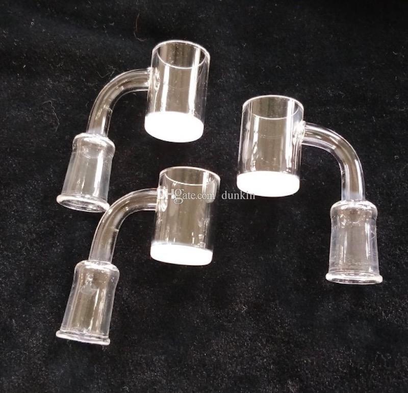 Alta qualità 25mm XL Flat Top Quartz Banger Nail 4mm fondo spesso 2mm Thick Domeless Honey Bucket 10mm 14mm 18mm maschio femmina quarzo nails