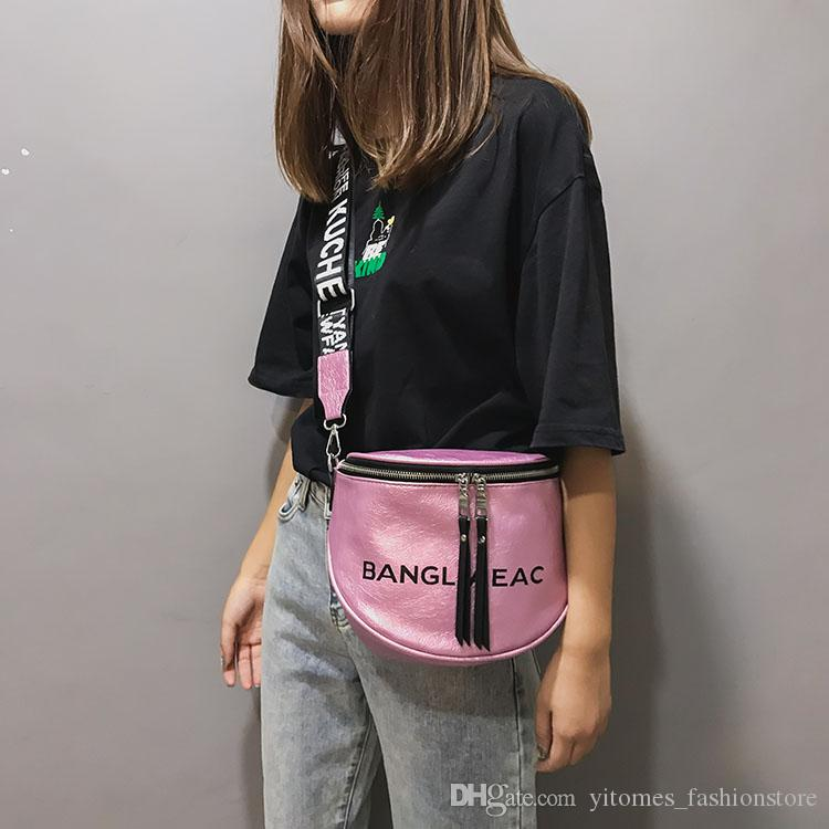 Dames De Hip À Hop Pu Sacs Femmes Lettre Streetwear En Bandoulière Sac Cuir Petit Mode Large Pour MVGqSpzLUj