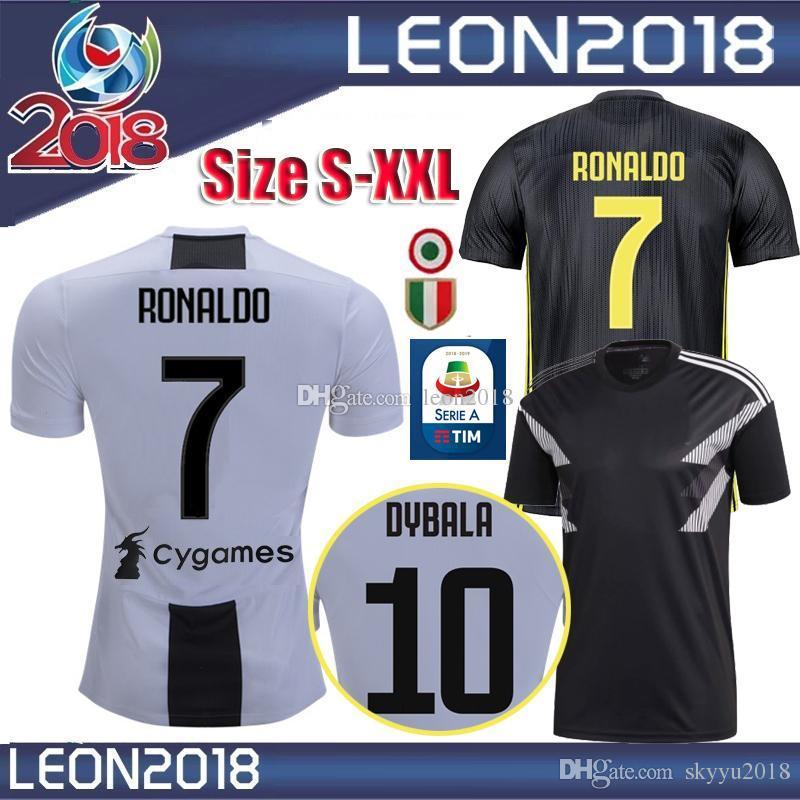 online store 53b28 22b00 SIZE S-XXL 2018 2019 Juventus Soccer Jersey 18/19 RONALDO DYBALA Soccer  Shirt D. Costa MANDZUKIC PJANIC new Serie A football Jerseys