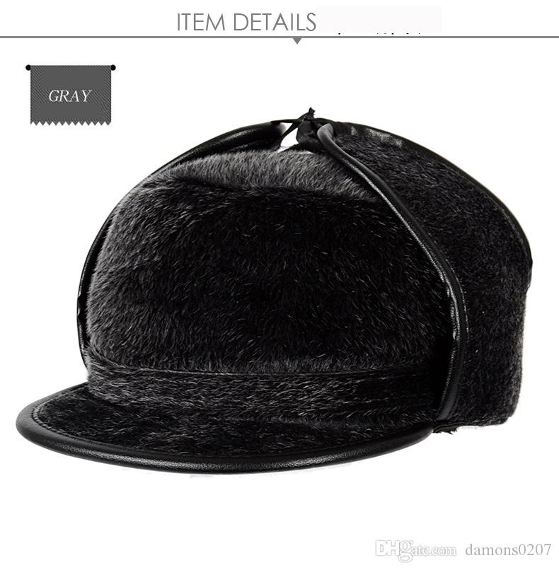 cfa0a700991 Middle-aged And Elderly Winter Haisi Mao Men s Hat Old Lei Feng Hat ...
