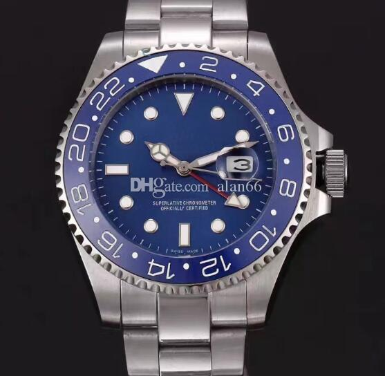 5ba10c6472570 High Quality AAA Luxury Stainless Steel Blue Ceramic Bezel Dial Men ...