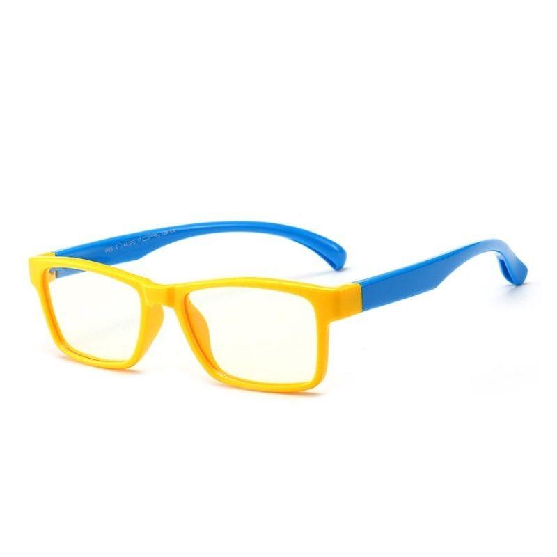 d60ebc097da 2019 Yok S Anti Blue Ray Glasses Kids TR90 Titanium Ultralight Flexible Eyeglasses  Frames Yellow Children Computer Rectangle Eyewear CN1069 From Yoks