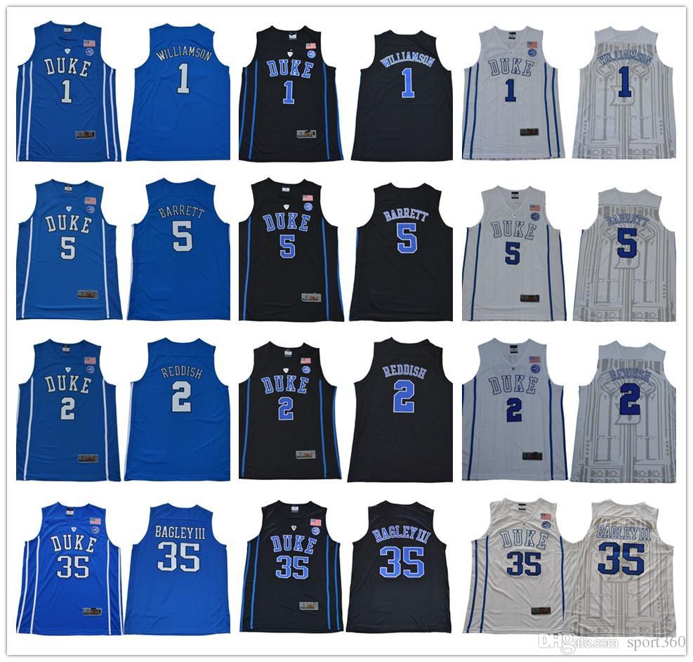 247be355d 2019 2019 Duke Blue Devils College Basketball Jersey 1 Zion Williamson 2  Cam Reddish 5 RJ Barrett Home Stitched Jerseys From Sport360, $27.36 |  DHgate.Com