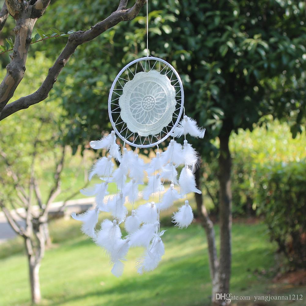 Home Garden Decoration Native White Lace Dreamcatcher Hoops For Wall Hanging  Ornaments Accessories Birthday Gifts Indian Craft Home Garden Decoration ...