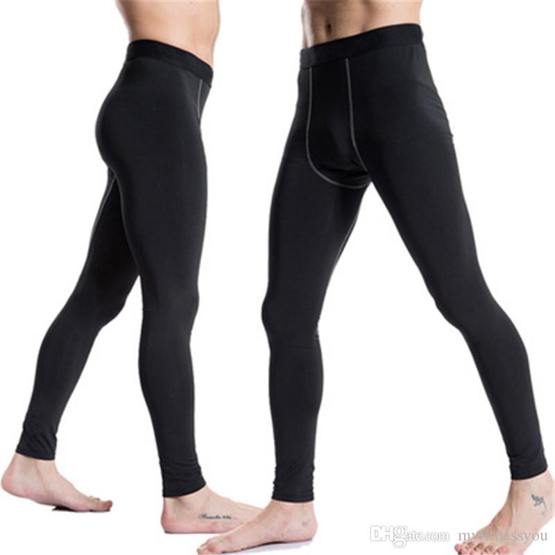 6b275998d2fb7 Brand Men's Running Pants Sports Athletic Compression Sports Gym Leggings  Basketball Jogging Athletic white Jogger Soccer Cycling Pants XXL