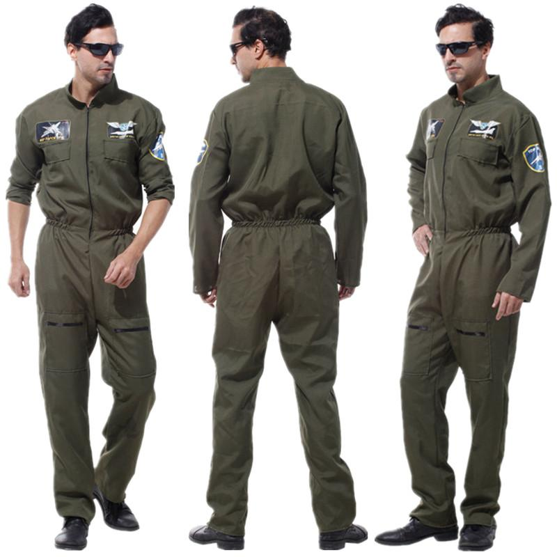 d6f747ce48 Adult Men Special Force Costume Pilot Jumpsuit For Halloween Carnival  Christmas Masquerade Fantasia Fancy Dress Cosplay Clothes Themed Costume  Parties Group ...