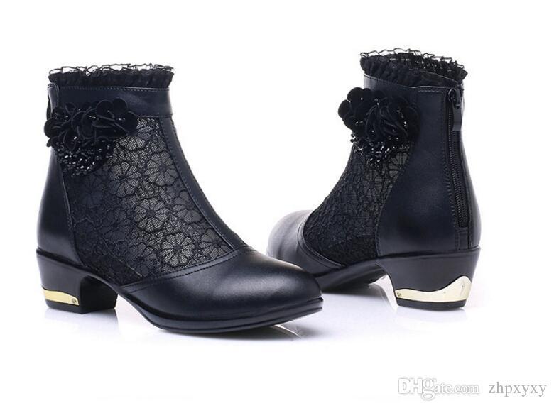 Kadın Sandalet 2018 Yaz gazlı bez yüksek topuklu ayakkabılar dantel Balık ağız kadın sandalet moda yaz ayak bileği çizmeler