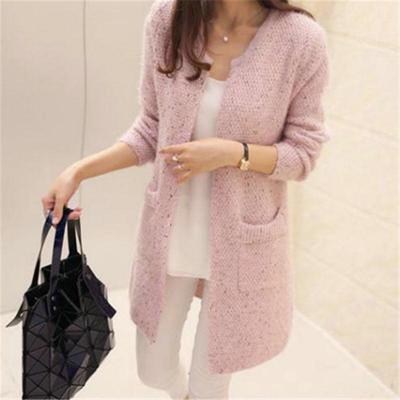 cbc4d29fc47 2019 Autumn Winter Women Casual Long Sleeve Knitted Cardigans 2018 New  Crochet Ladies Sweaters Fashion Tricot Cardigan PZ146 From Piaose