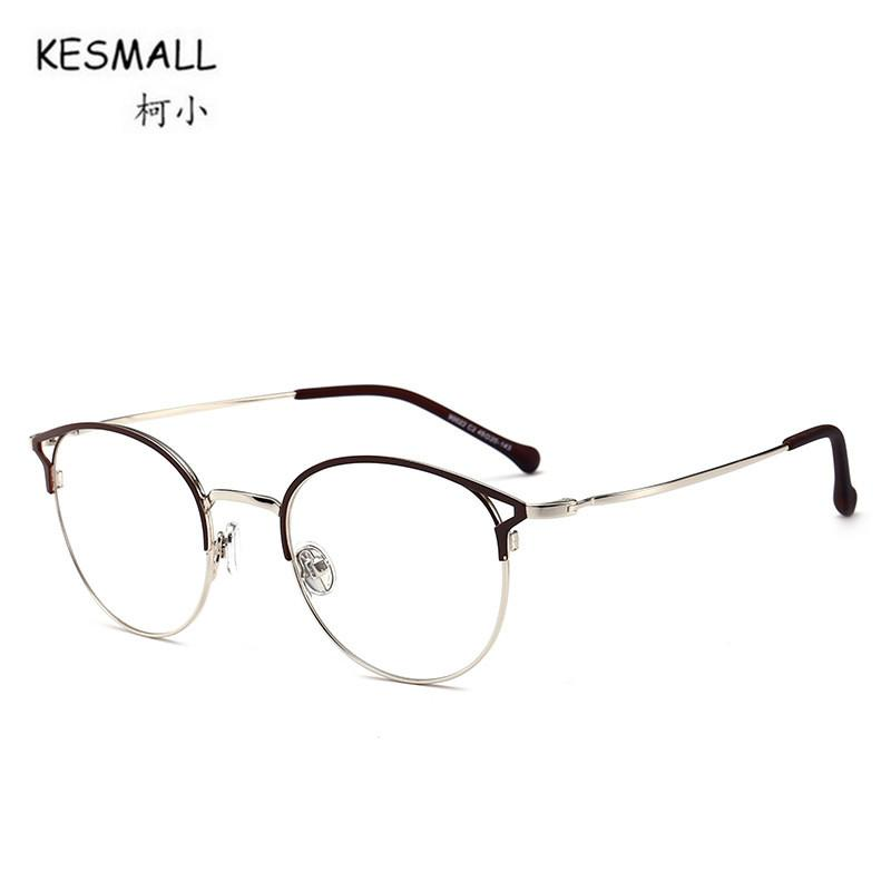 22e1ee5daf 2019 KESMALL Newest Alloy Glasses Frame High Quality Clear Lens Eyewear Men  Women Gold Color Eyeglasses Frames Marco De Lentes XN561 From Milknew