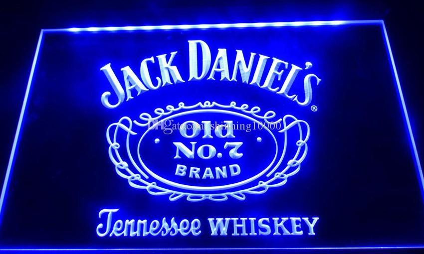 LS038-b jack daniels old no 7 bar beer neon light signs Decor Free Shipping Dropshipping Wholesale 8 colors to choose
