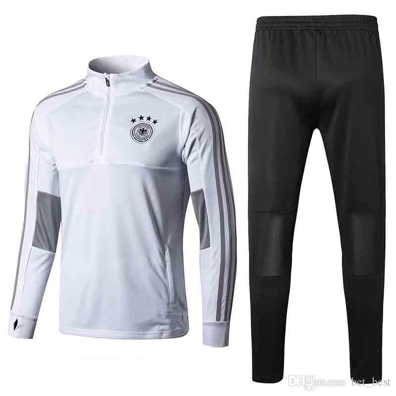 141165768 2019 Mens 2018 Germany Training Tracksuit Jacket Mens 18 19 Germany Soccer  Jacket Suit Set Soccer Tracksuit Black Pants Sportwear From Bet best