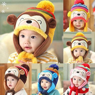 Großhandel Winter Tier Affe Hut Schal Für Kinder Kinder Aviator