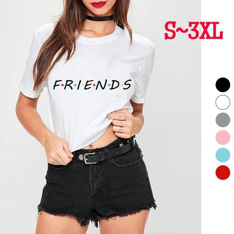 91e3bacc7 Compre Amigos Tv Show T Shirt Carta Impressão Estética Vestuário Gráfico  Das Mulheres Tees Tumblr Estilo Popular Verão Tops Camisas De Grife Das  Mulheres De ...