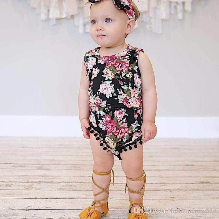 5cf613a4d329 ... Clothes  lower price with 093a3 01746 Kids Baby Girls Floral Sleeve Romper  Jumpsuit Newborn Baby Casual Outfit ...