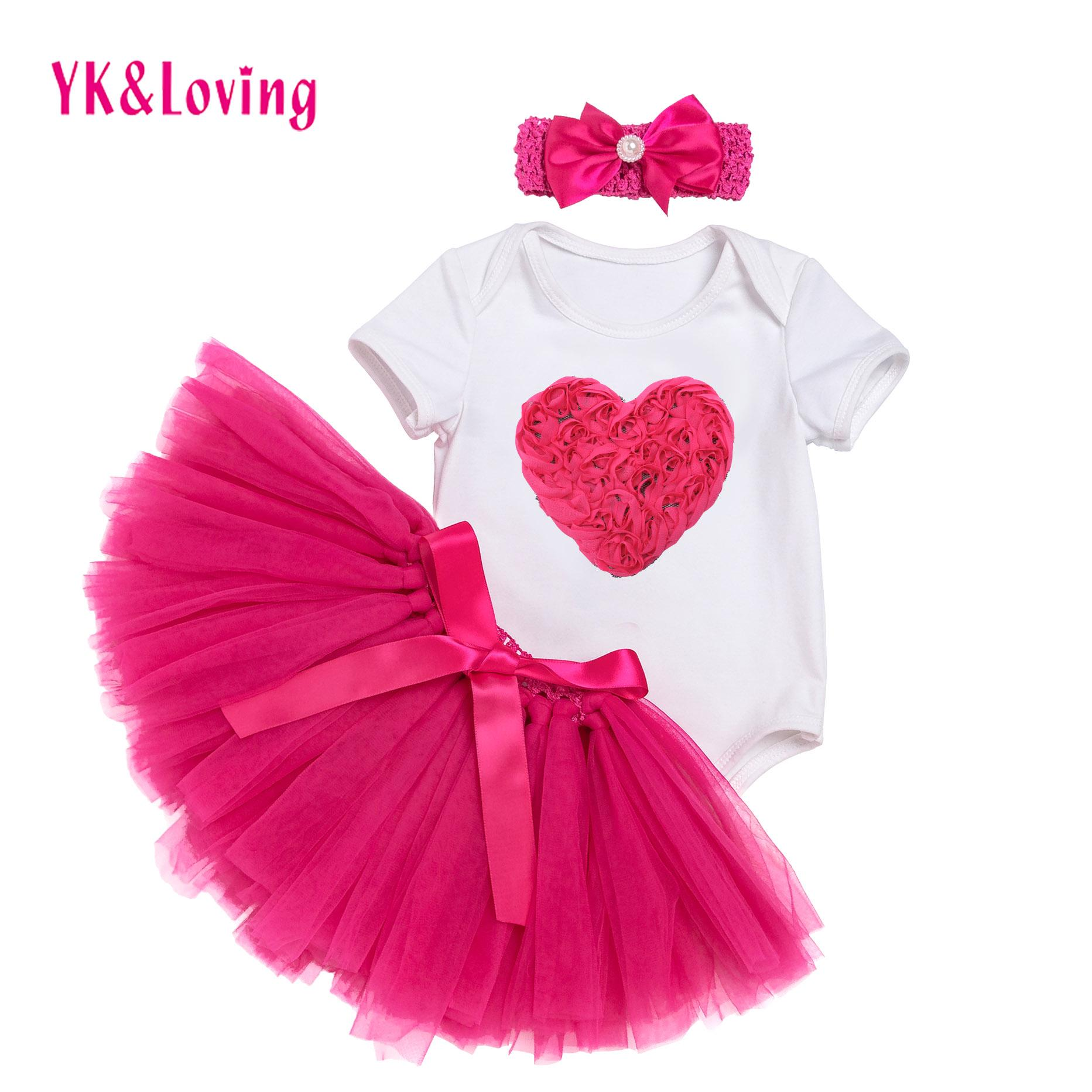 c0996d4c1956 2019 Newborn Baby Girl Romper Suit Short Sleeve Cotton Jumpsuit Girl  Bodysuit Skirt Headband Kids Infant 0 2t Clothing Sets Birthday Gifts  Outfit From ...