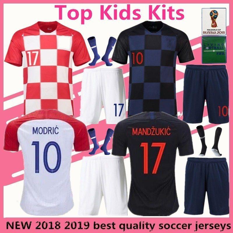2018 Modric Soccer Jersey Children Suite Mandzukic Football Uniform World  Cup 2018 Kalinic Rakitic Kovacic Kids Kits Maillot From  Whatsapp861860310148 f87fbce02