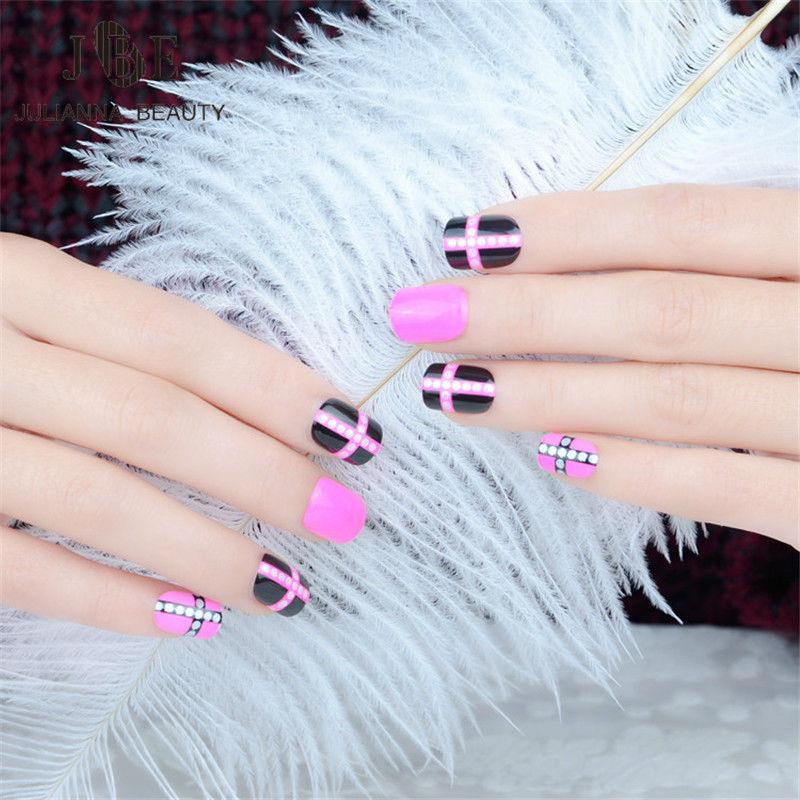 Acrylic Nail Tips Pre Design Fake Nails Makeup Set UV Gel Faux Ongles Full  Cover Short Acrylic Nail Tips Fingernail With Nail Design Shellac Nails  From ... - Acrylic Nail Tips Pre Design Fake Nails Makeup Set UV Gel Faux