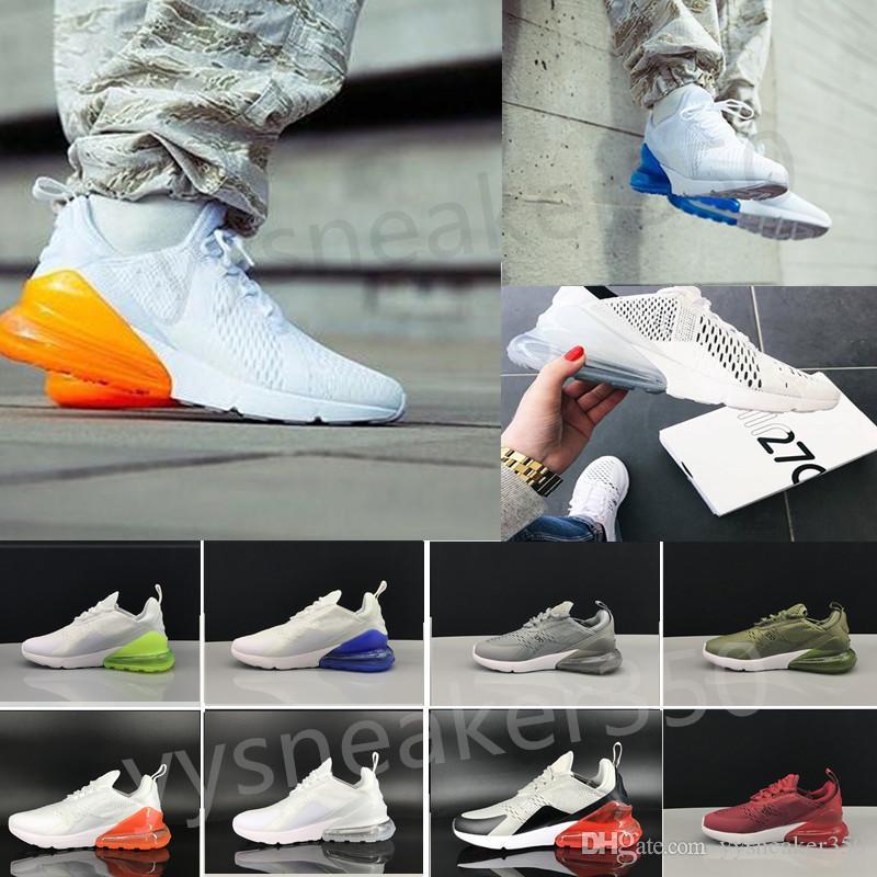 sale retailer ee8ef 53a5a Acheter Nike Air Max 270 27c Airmax En Gros De Haute Qualité Hommes Femmes  Triple Noir 270 Ah8050 Formateur Sport Chaussures De Course Flair Sneakers  Taille ...