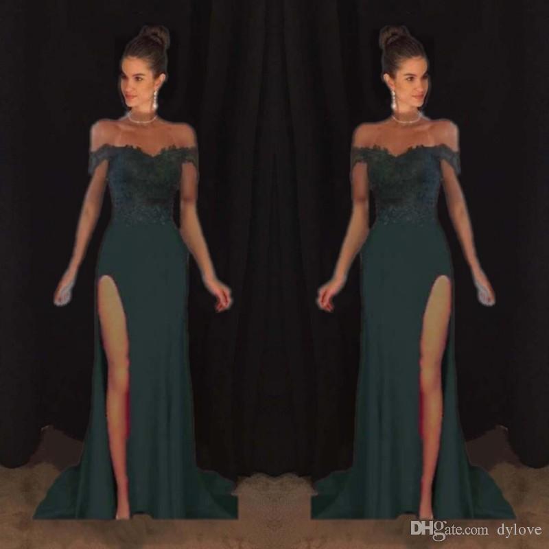2018 Plus Size Dresses Abendkleider Erald Green Prom Dress Black ...