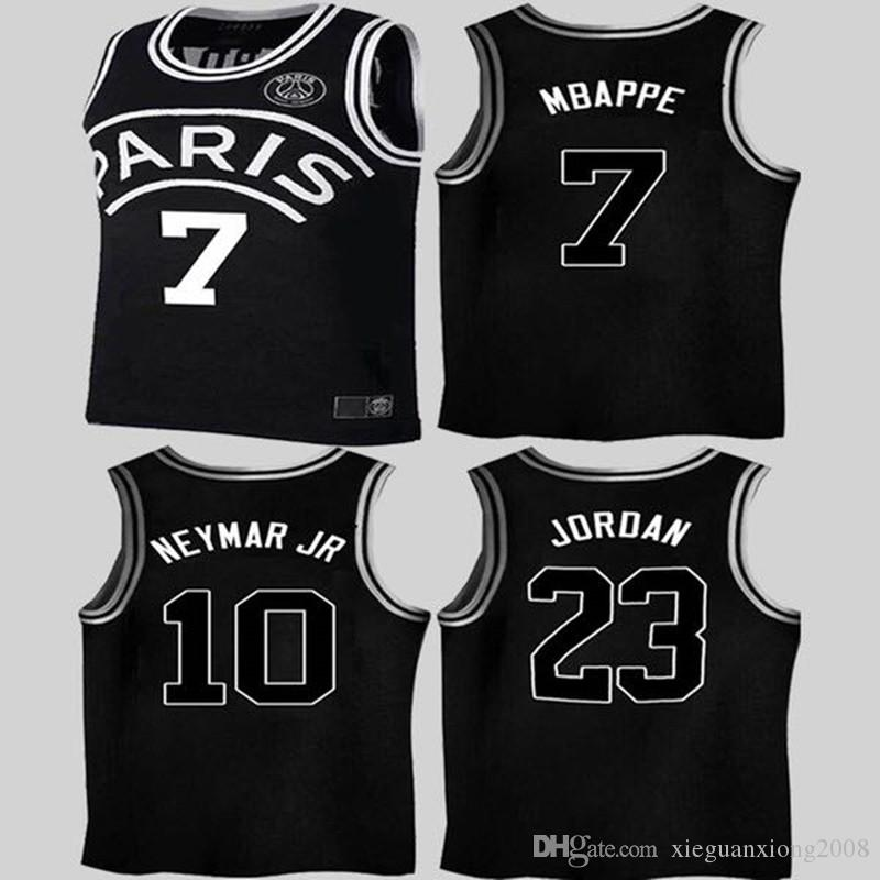 e3c21080c0cc4 2019 18 19 Black Basketball Jersey Psg Maillot De Foot MBAPPE CAVANI 2018  2019 Paris Basketball Jersey Kimpembe Football Kits Shirt From  Xieguanxiong2008
