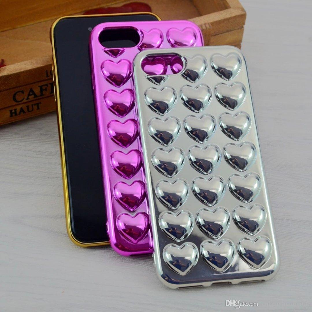 Hot sale Phone Case Benevolence Electroplating Soft TPU Covers For Apple iphone 6 6s Plus 7 7Plus Back Cover New styles electroplate