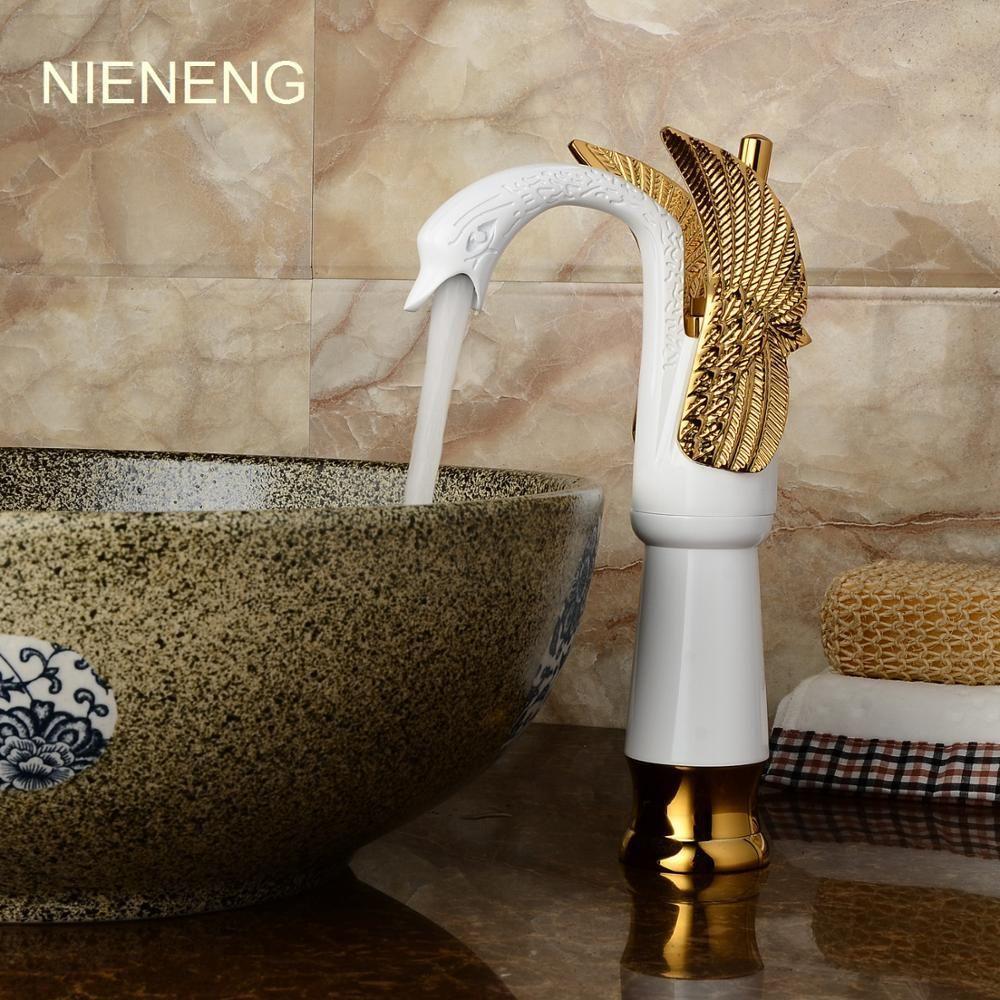 Grosshandel Nieneng Schwan Armaturen Bad Waschbecken Mixer Wasser