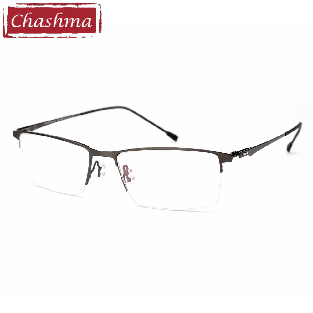 d170b1239d 2019 Chashma Brand Design Glasses Fashion Alloy Eyeglass Semi Frame  Spectacle Frame Mens Optical Spectacles Frames Male From Jianyue16