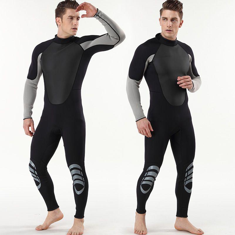 New arrival 3MM Neoprene long sleeve wetsuit Men's Wetsuit diving suit Scuba Diving wear Snorkeling WetSuit