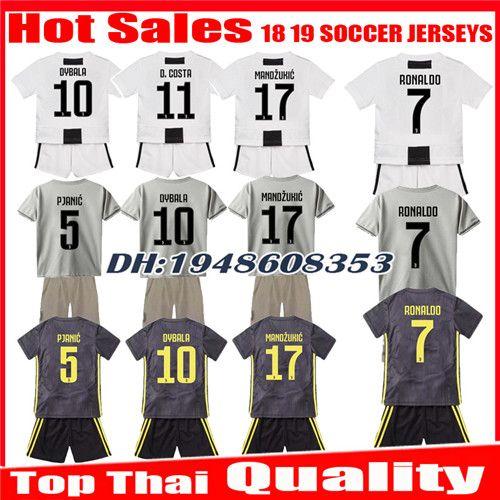 2019 Kids 2018 2019 RONALDO Soccer Jerseys Kits DYBALA HIGUAIN Children  Home Third 18 19 CUADRADO PJANIC Kit CHIELLINI Uniforms Football Shirts  From ... 275eeb992