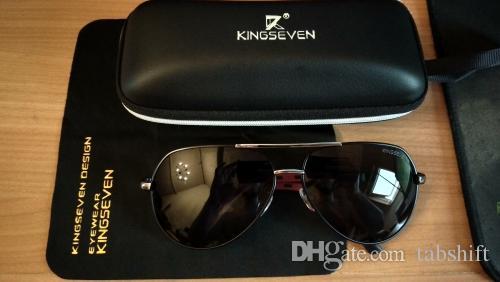 Compre Para Homens   Wome Óculos De Sol KINGSEVEN Homens De Alumínio Do  Vintage HD Polarizada Óculos De Sol Clássico Marca Óculos De Sol Lente De  ... b67ba884b8