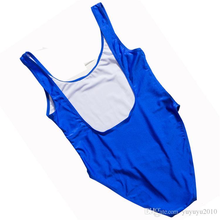 2019 Womens White Beat Letters Print Backless Tank Bathing Suit Brazilian Swimsuits Swimwear Bodysuit One Piece ywxk