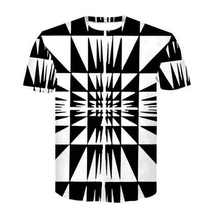 7314e75f82d8 Black And White Hypnosis Creative Design T Shirt Men Women Summer 3D Print  Short Sleeve Round Neck T Shirt Undershirt Fitness TopsL2 Funny Tee T Shirt  Buy ...