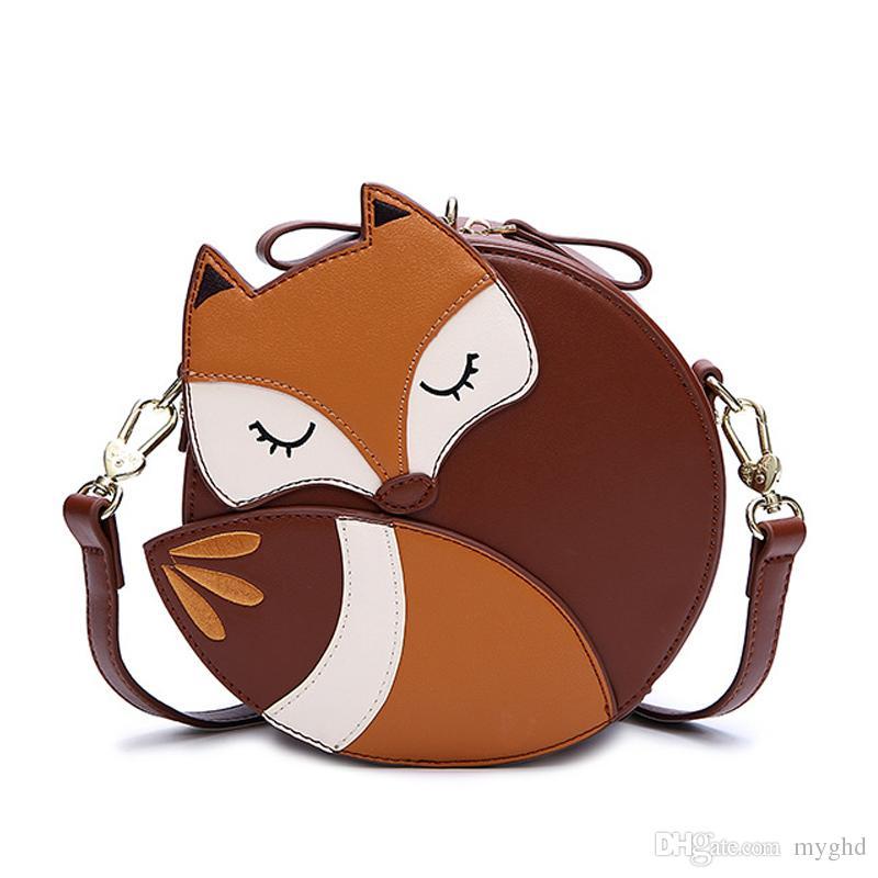 f50b347c981 Korean Fashion Fox Designer Purses And Handbags For Women PU Leather  Shoulder Bag For Women Small