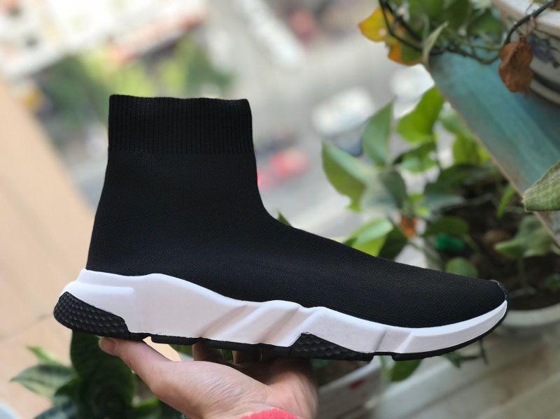 أحذية جورب حذاء عرضي سرعة المدرب عالية الجودة أحذية رياضية سرعة المدرب جورب فاز بالمركز الثاني في سباق السوداء أحذية الرجال والنساء الأحذية