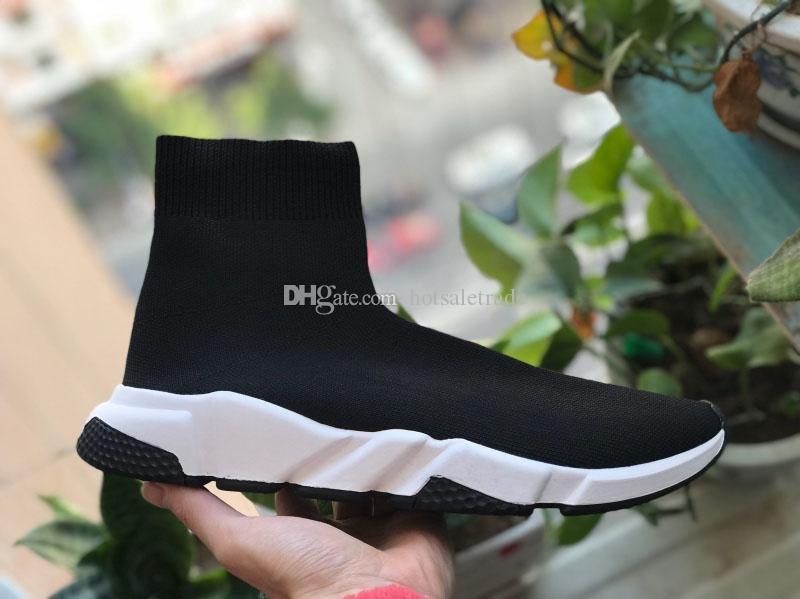 Chaussette Chaussures Casual Chaussures Vitesse Entraîneur de haute qualité Chaussures de sport Vitesse Entraîneur Sock course Runners noir Chaussures homme et femme Chaussures