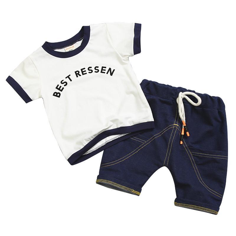 b24b5ed774b7be 2018 New Fashion Summer Children Boy Girl Clothes Sets Kids Cotton ...