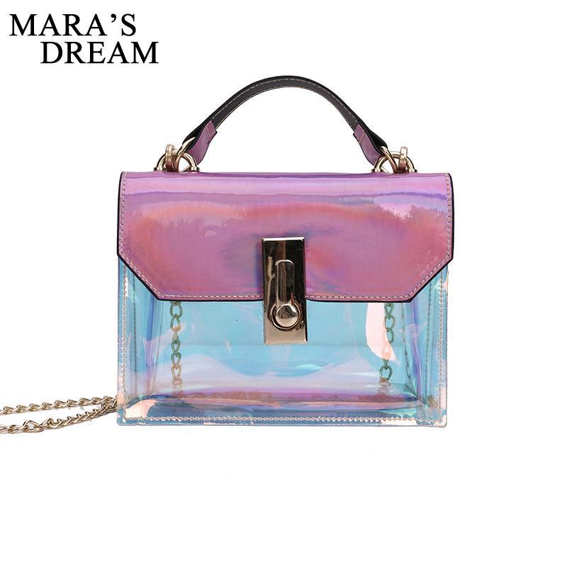 Mara S Dream 2018 Summer Hologram Transparent Plastic Handbags Beach Shoulder  Bag Women Trend Tote Jelly Fashion PVC Clear Bags Handbags Purses From  Dusala, ... 53a4c73d98