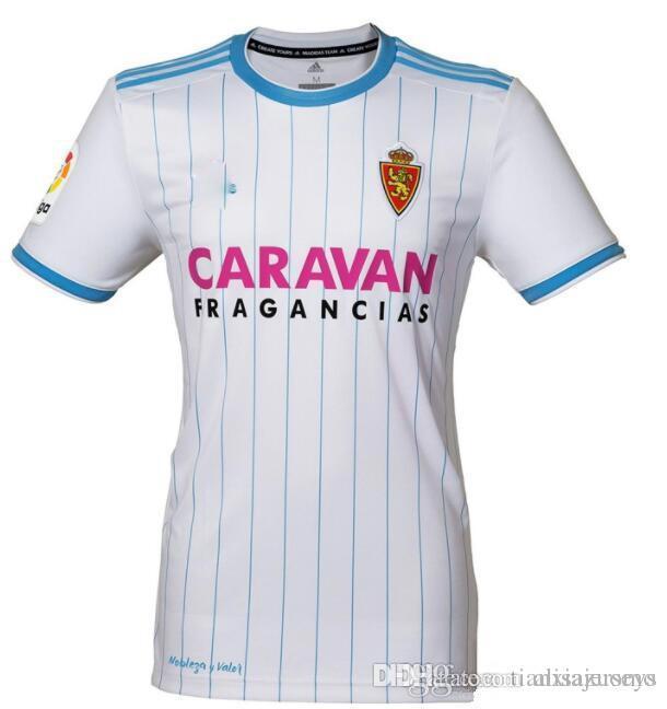 Top TAILANDIA Calidad 18 19 Real Zaragoza En Casa Fútbol Jersey 2018 2019  Zaragoza Real Zaragoza Camisetas Borja Iglesias Fútbol Por Alisajerseys fba1f2ab543c1