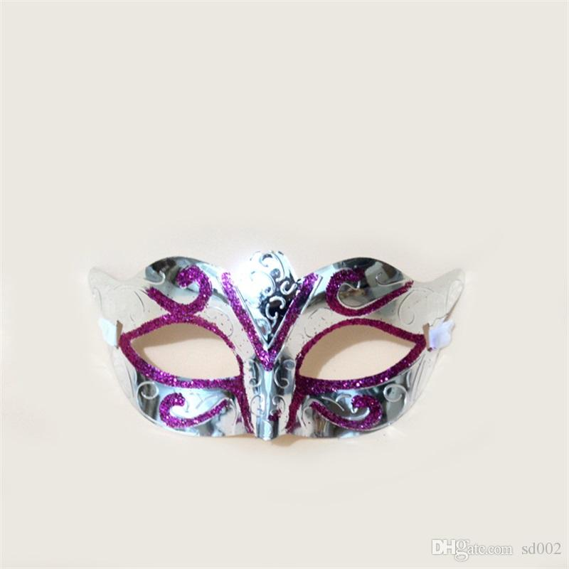 Unisex Party Mask With Sparkle Gold Glitter Halloween Masquerade Venetian Mask For Costume Cosplay Mardi Gras Children Decor Toys 0 65h YY